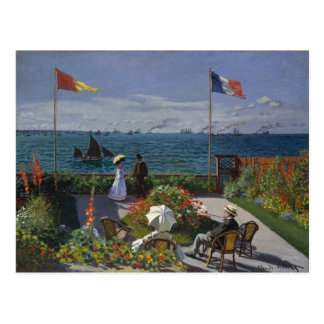 Garden at Sainte-Adresse (1867) Postcard