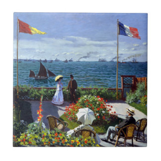 Garden at Sainte-Adresse by Claude Monet Tile