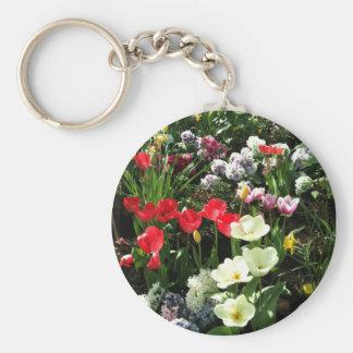 Garden Basic Round Button Keychain