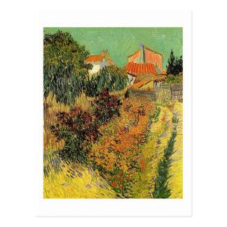 Garden behind a House.  Vincent van Gogh. Postcard
