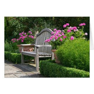 Garden bench card