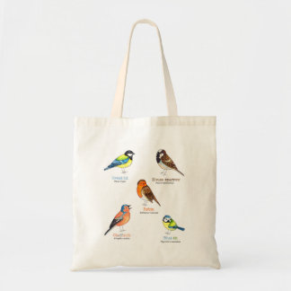 Garden bird tote bag
