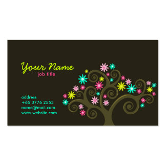 Garden Blooms Profile Card Double-Sided Standard Business Cards (Pack Of 100)