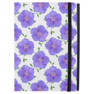 "Garden Blue Geranium Flower on any Color iPad Pro 12.9"" Case"