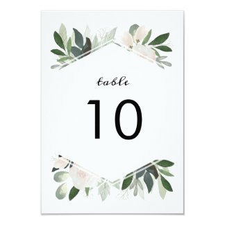 Garden Blush Table Number Card