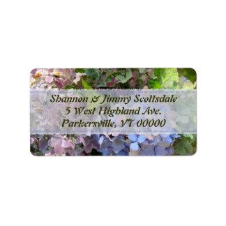 Garden Bouquet Hydrangea Address Sticker Address Label