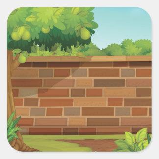 Garden Brick Wall Stickers