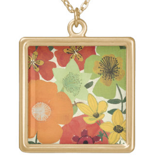 Garden Brights Gold Plated Necklace