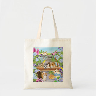 Garden Bunnies Tote Bag