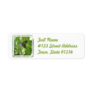 Garden Butterfly Return Address Mailing Label