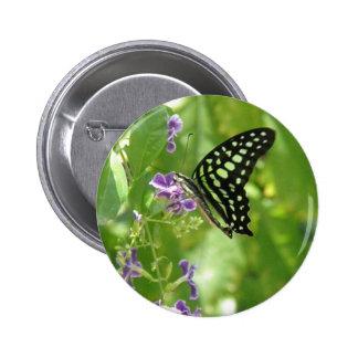 Garden Butterfly Round Button