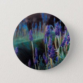 Garden By the Pond at Twilight 2 Inch Round Button