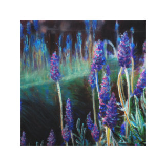 Garden By the Pond at Twilight Canvas Print