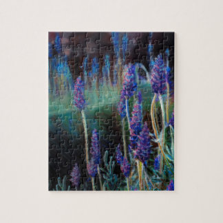 Garden By the Pond at Twilight Jigsaw Puzzle