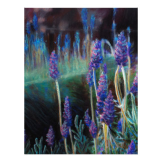 Garden By the Pond at Twilight Letterhead