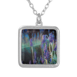 Garden By the Pond at Twilight Silver Plated Necklace