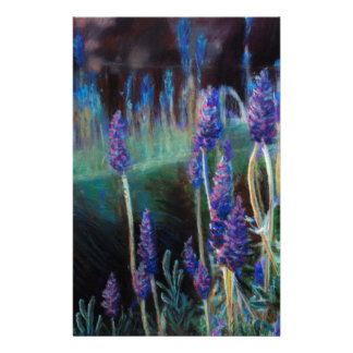 Garden By the Pond at Twilight Stationery