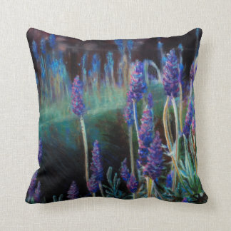Garden By the Pond at Twilight Throw Pillow