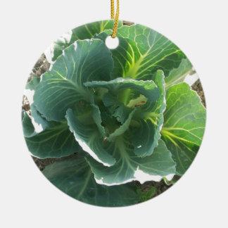 Garden Cabbage Ceramic Ornament