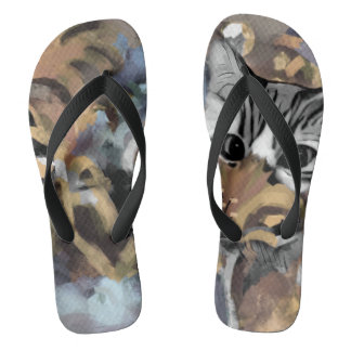Garden Cat- Blue Flip Flops