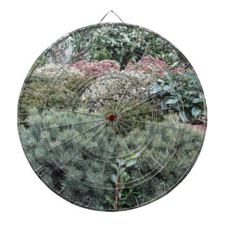 Garden centre with selection of nursery plants dartboard