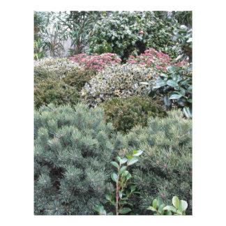 Garden centre with selection of nursery plants letterhead template