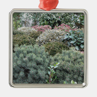 Garden centre with selection of nursery plants metal ornament