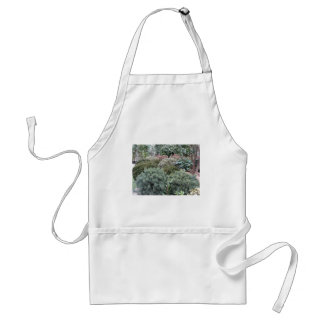 Garden centre with selection of nursery plants standard apron