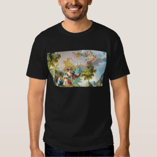 Garden Cherub Jesus Scene Tshirt