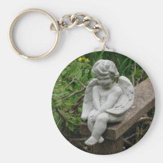 Garden Cherub Key Chain