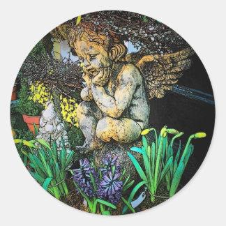 Garden Cherub Sticker