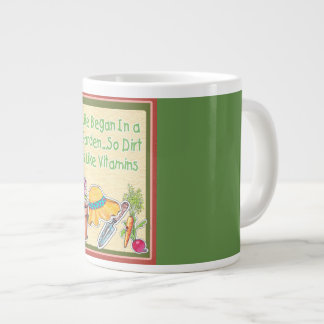 Garden Coffee Mug- Life Began in a Garden Large Coffee Mug