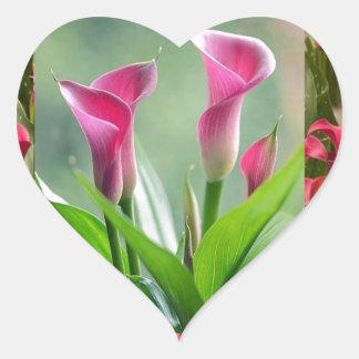 GARDEN Collage : Beautiful Flowers Heart Sticker
