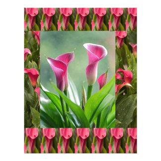 GARDEN Collage Beautiful Flowers Customized Letterhead