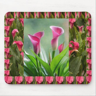 GARDEN Collage Beautiful Flowers Mousepads