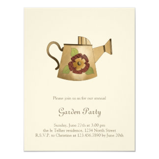 """Garden Collection · Watering Can 4.25"""" X 5.5"""" Invitation Card"""