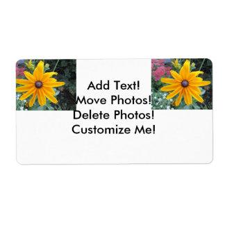 Garden Daisy Flower Shipping Label