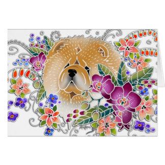 GARDEN DANCE Chow -  Art cards by Sandra Miller