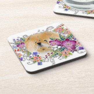 GARDEN DANCE Chow -  Coaster set