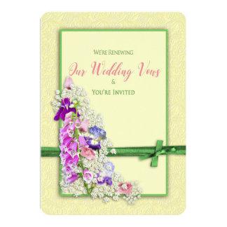 Garden Delights - Renewing Wedding Vows Invitation