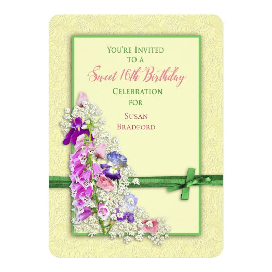 Garden Delights - SWEET 16th Party Invitation