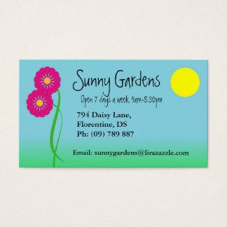 Garden design business card