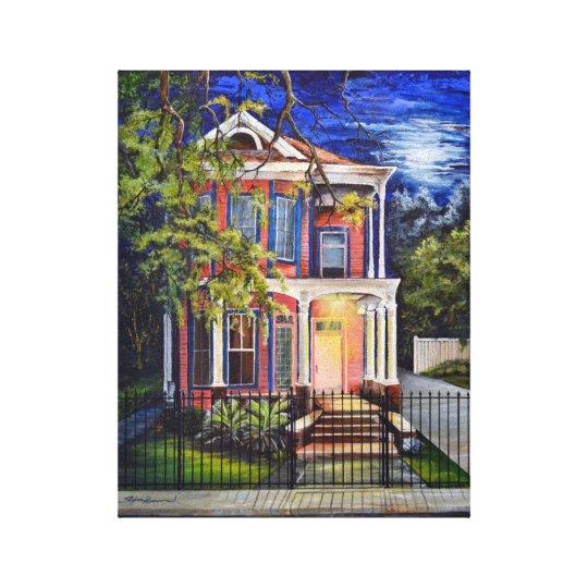"Garden District House 11""x14"" Canvas Print"