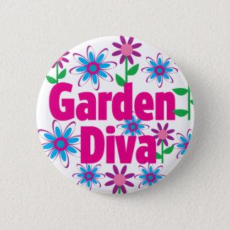 Garden Diva 2 Inch Round Button