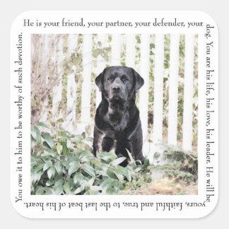 Garden Dog Stickers