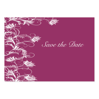 Garden Essence Deep Rose And White Save The Date Business Card Templates