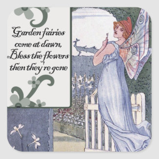 Garden Fairies Square Sticker
