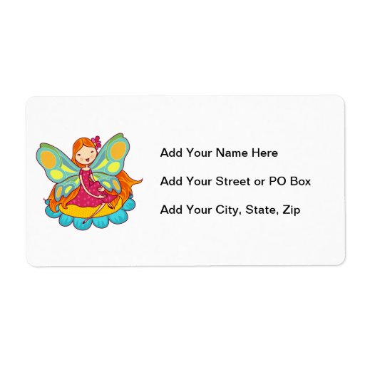 Garden Fairy Personalized Shipping Labels