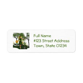 Garden Fairy Return Address Labels