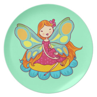 Garden Fairy Party Plate